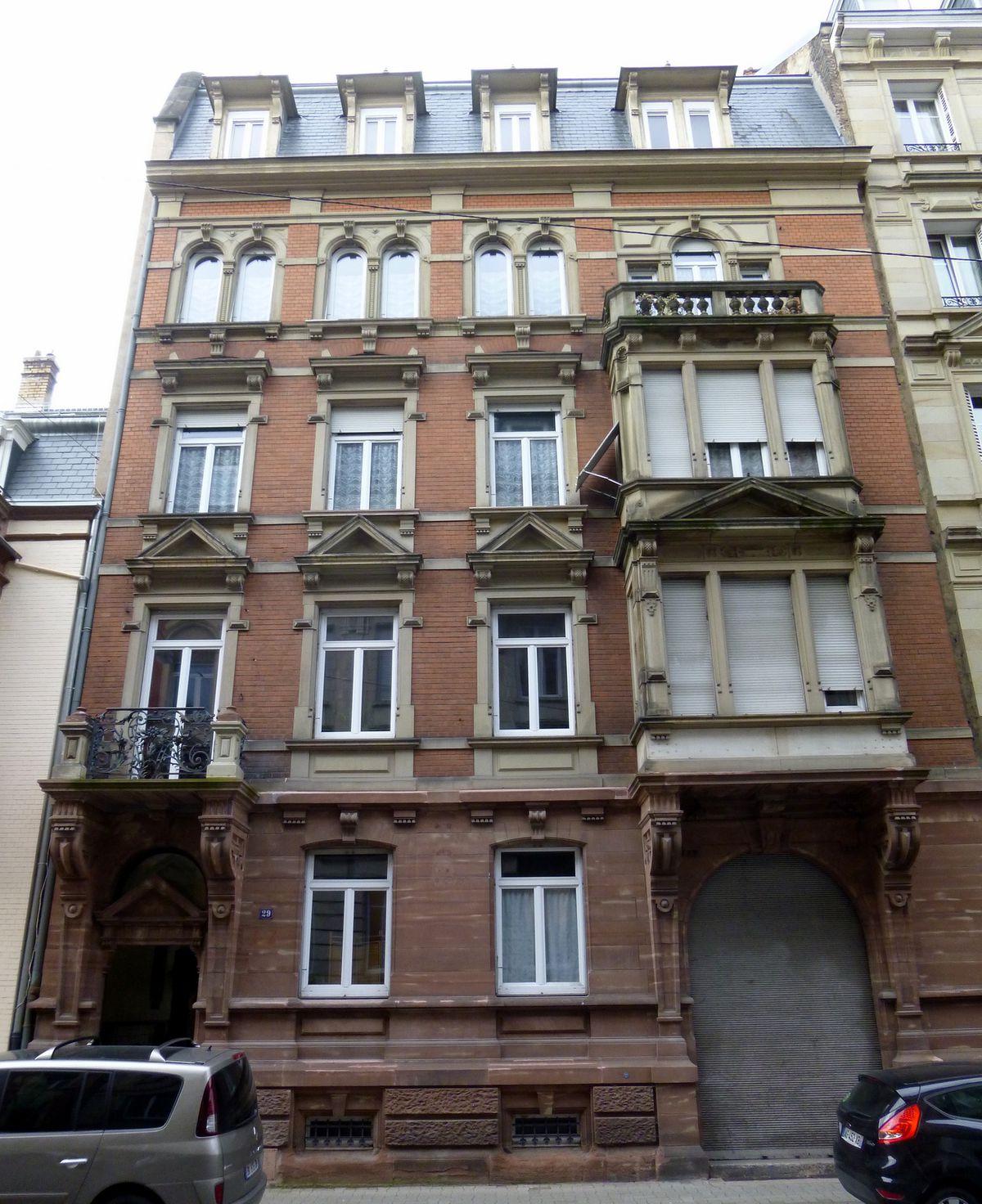 29 Rue De La Ferronnerie 29 rue du maréchal foch (strasbourg) — archi-wiki